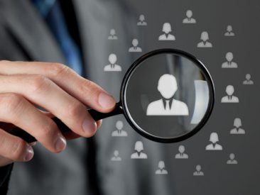 24006386 - human resources officer  hr  choose employee standing out of the crowd  select team leader concept